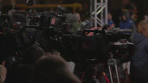 Videographer shoots festive event