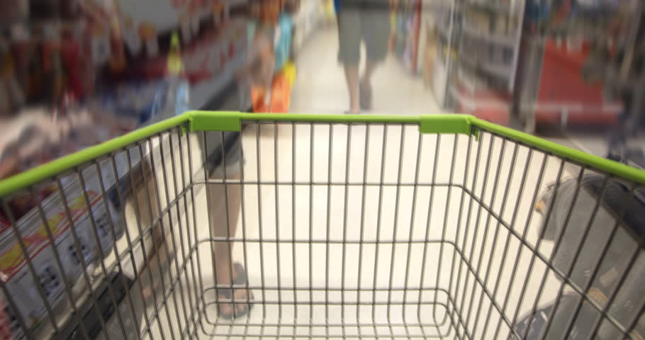 Shopping Cart in Supermaket | Shutterstock HD Video #13905545