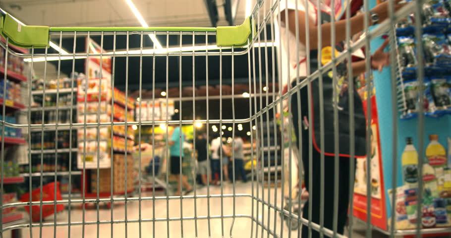 Shopping Cart in Supermaket | Shutterstock HD Video #13905554
