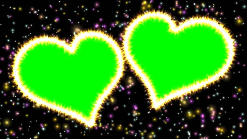 Video Two Hearts With Chroma Stock Footage Video 100 Royalty Free