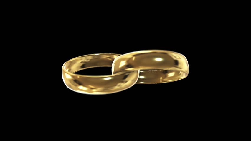 Rotating Yellow Gold Ring With e Big Blue Precious Stone In The