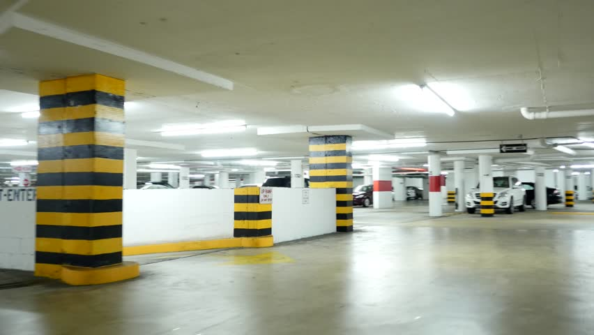 Parking Garage Underground Industrial Interior Rotating Cycled