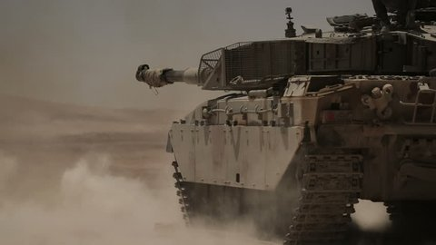 Tanks fired live ammunition. M1 Abrams