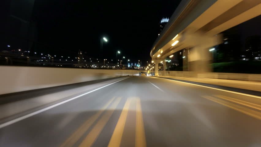 Timelapse through tunnels to the Tokyo Gate Bridge. | Shutterstock HD Video #14058734