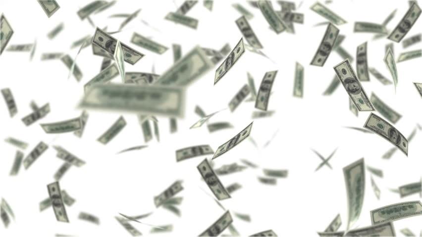 One hundred dollar bills falling through air. UHD loop | Shutterstock HD Video #14060804