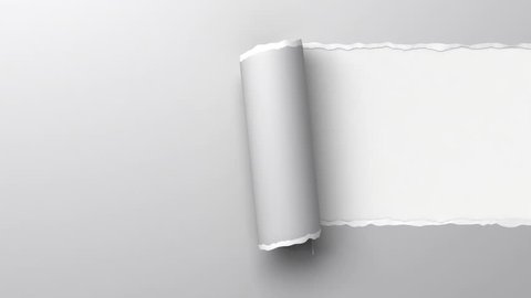 Ripping paper, 5 different materials. 3d animation with alpha-matte