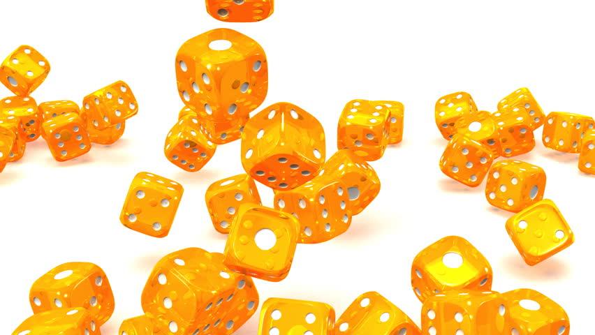 Orange Dice On White Background Stockvideos Filmmaterial 100 Lizenzfrei 14063984 Shutterstock