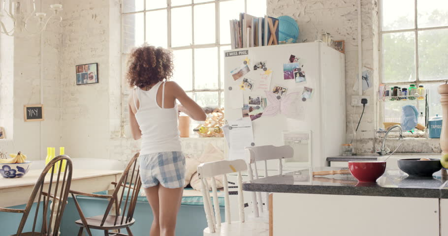 Fabulous Happy Curly Haired Girl Dancing Stock Footage Video 100 Royalty Free 14075624 Shutterstock Creativecarmelina Interior Chair Design Creativecarmelinacom