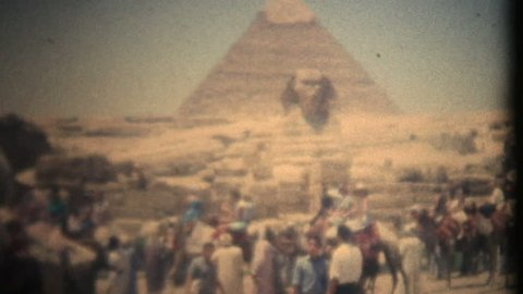 The Sphinx and Pyramid of Khafre, Cairo, Egypt 8mm transfer 1080p