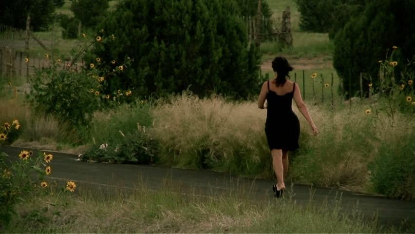 Boyfriend Man Catching And Spraying Girlfriend Woman With Water Hose In Garden Yard -9240