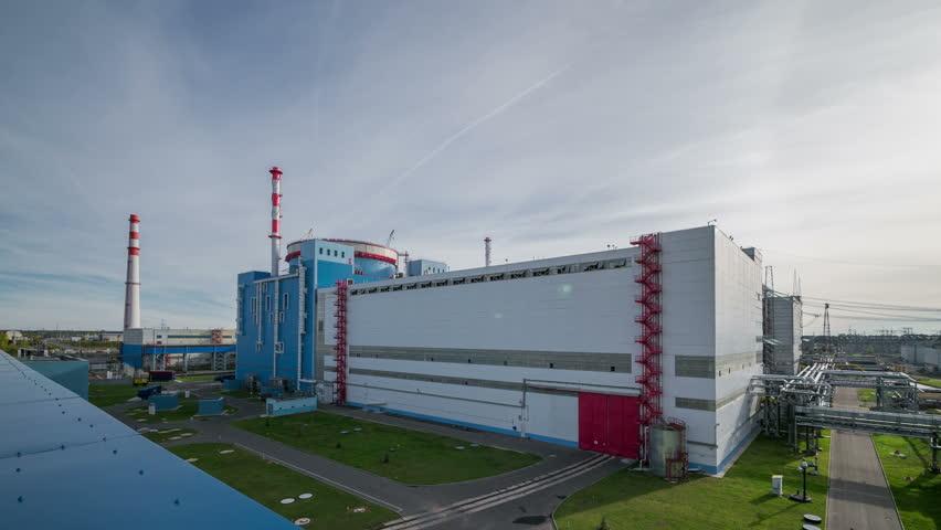 The Kalinin nuclear power plant. Unit. Timelapse 4k.