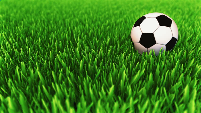 Soccer Ball Rolling On Grass Stock Footage Video 6360152 ...