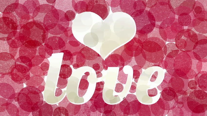Couple Silhouette In Flying Hearts Stock Footage Video