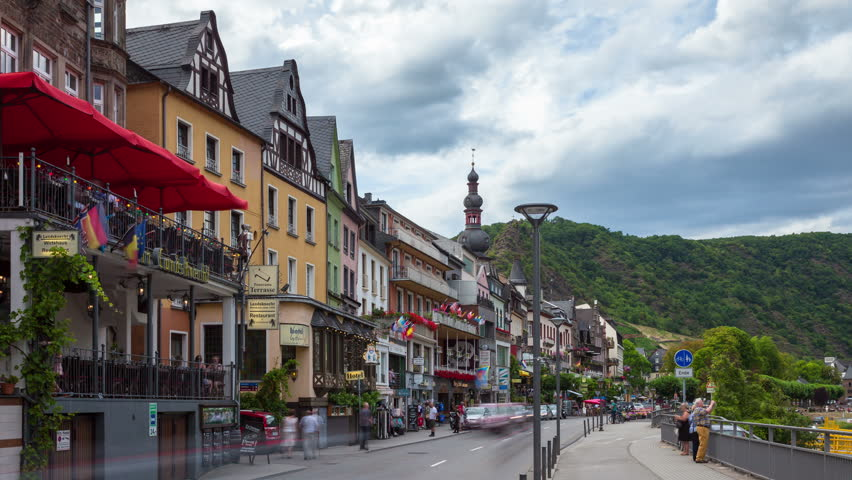 Stock Video Of Cochem In Mosel Valley In Front 14186804