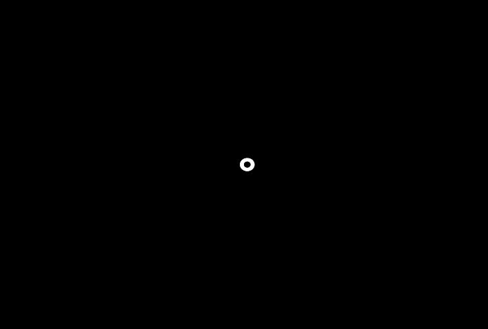 Black and white circles motion graphic