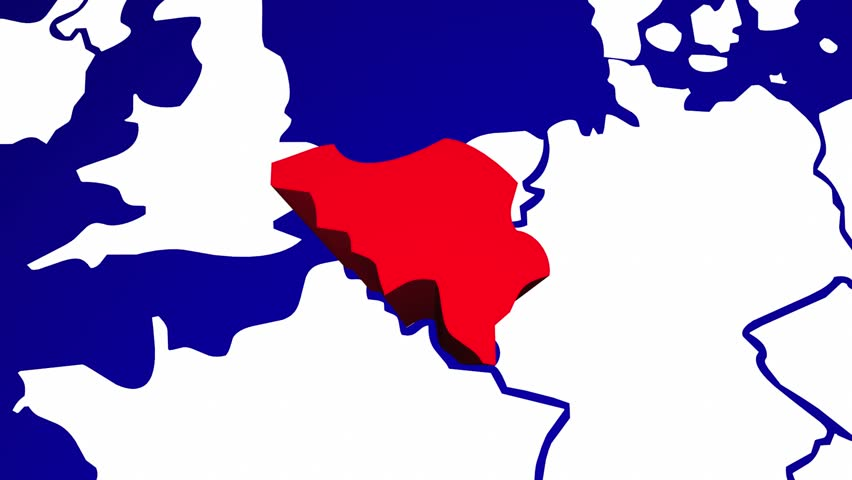 Belgium Europe Country Nation Map Stock Footage Video 100 Royalty