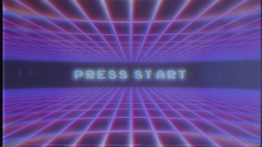 Retro Video Game Background And Stock Footage Video 100 Royalty Free 14227904 Shutterstock