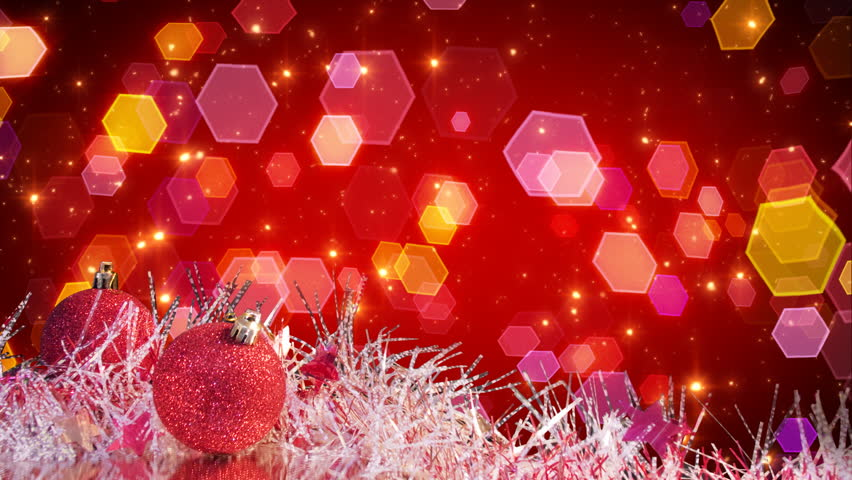 Red christmas tree decoration and lights loopable | Shutterstock HD Video #1428058