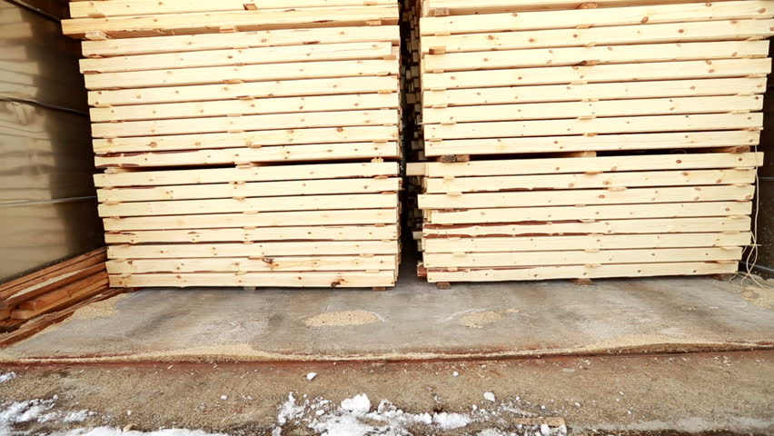 Woodworking. View of produced building materials #14338774