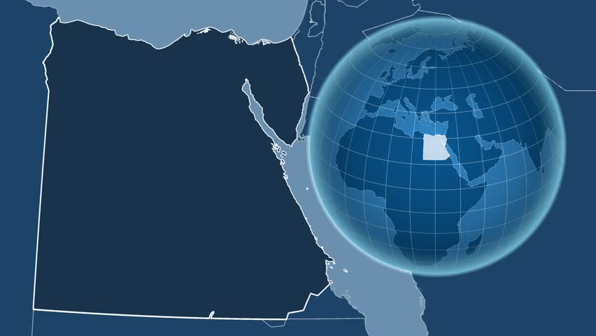 Egypt Shape Animated On The Admin Map Of The Globe 4k Stock Video Clip