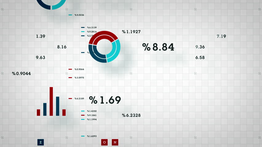Business Data Scrolling - graphs and other business data scrolling along a grid. Available in multiple color options. All clips loop seamlessly. | Shutterstock HD Video #14396854