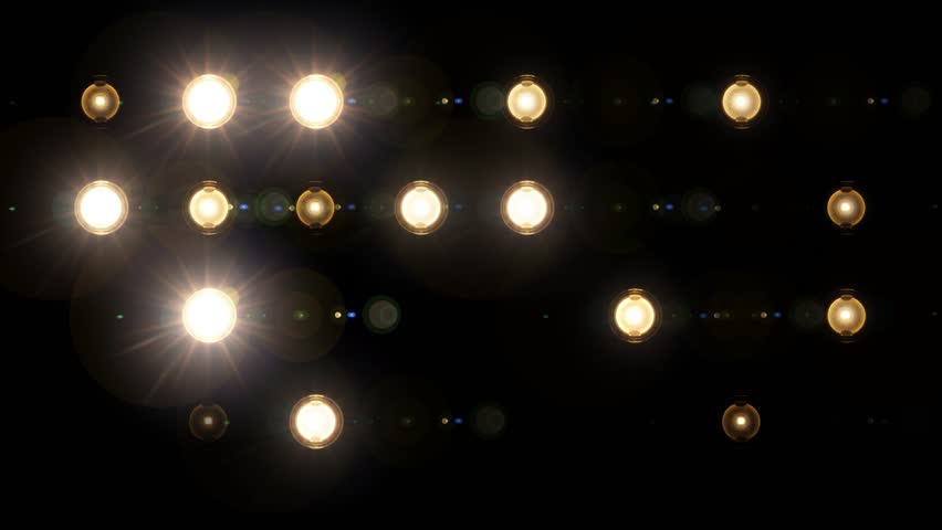 Blue Wall Of Lights Stage Sports Stadium Background Stock