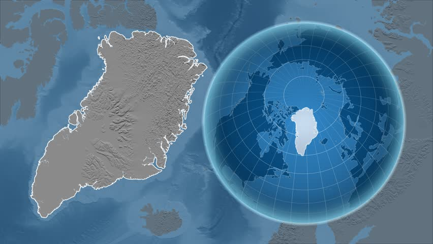 Greenland shape animated on the satellite map of the globe videos de greenland shape animated on the elevation map of the globe 4k stock video clip gumiabroncs Gallery