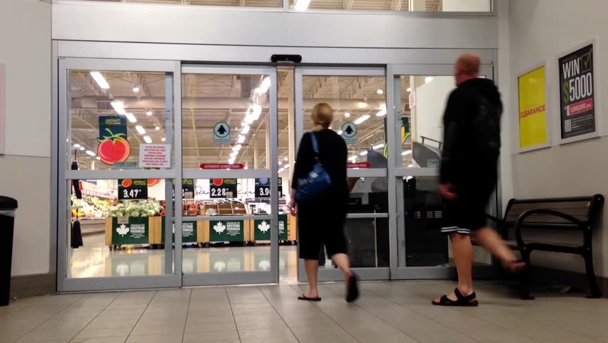 Coquitlam BC Canada - October 17 2015  People Walking Through The Door Inside Superstore Stock Footage Video 14470024 | Shutterstock & Coquitlam BC Canada - October 17 2015 : People Walking Through ...