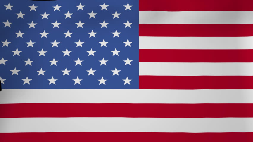 Container Ship With Fluttering American Flag Animation Hd Stock Footage Clip
