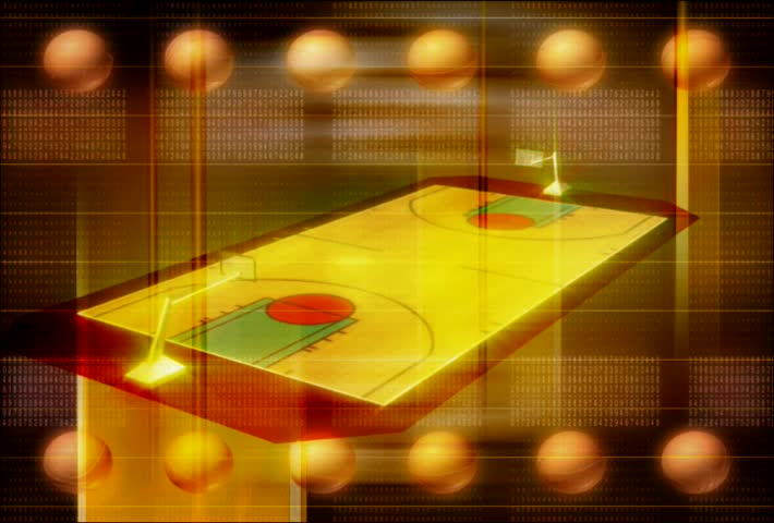 Animation of an interactive basketball court