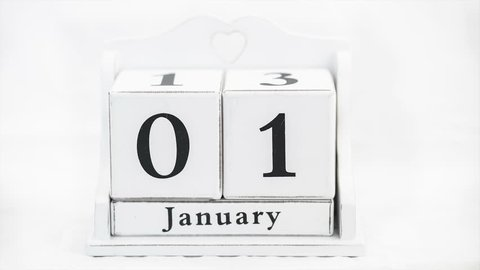 Calendar for the year timelapse video