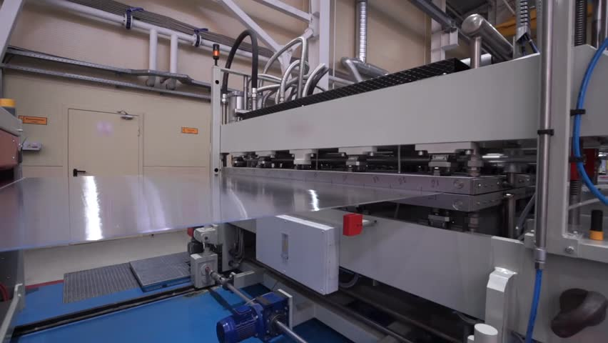 The Modern Automated Production Line. Polycarbonate Production.     Shutterstock HD Video #14592781