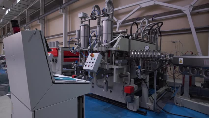 The Modern Automated Production Line. Polycarbonate Production.     Shutterstock HD Video #14592784