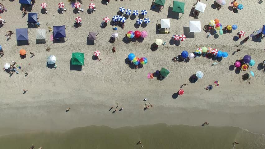 Top View a Beach, Rio de Janeiro, Brazil