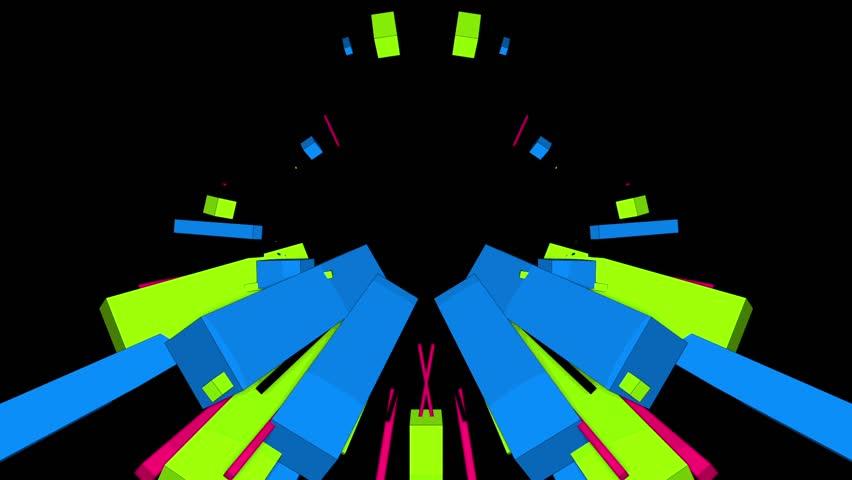 Set 03-01, Blue/Green cubes   Shutterstock HD Video #14636854