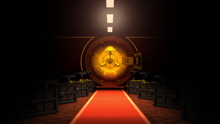 Opening of the vault door. The Alpha Channel is included.