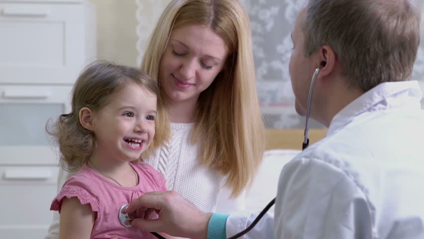 Male pediatrician examines baby with a stethoscope. | Shutterstock HD Video #14738872