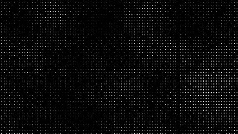 Royalty free stock footage and visuals featuring white dots or bokeh orb shaped particle motion background on black. For LED installations, club visuals, or creative editing projects.
