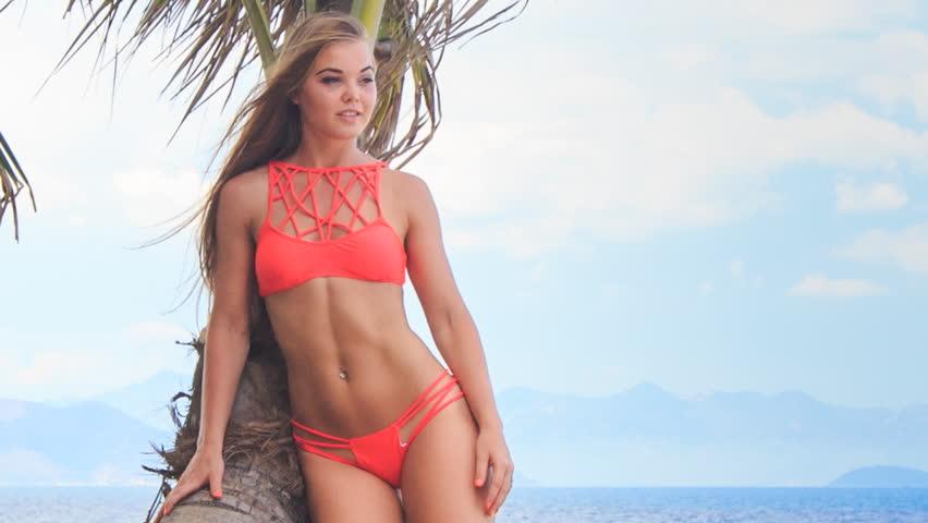 Layout bikini girl in