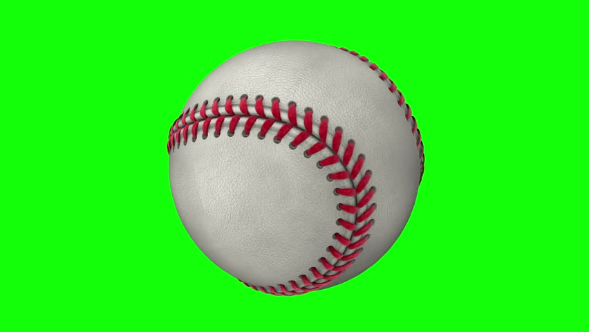 Isolated photorealistic baseball rotating on the green screen. Seamless loop. 4K Resolution (Ultra HD). More options available - check my portfolio.