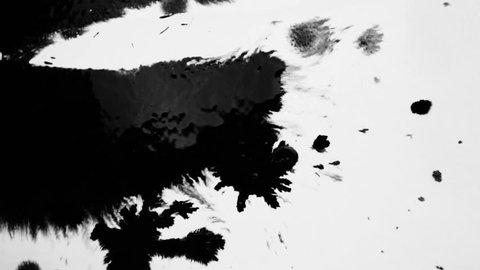 Ink splatter on white