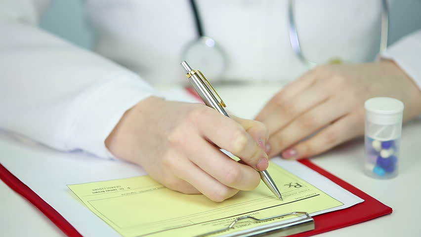 Doctor Filling In Patient'S Registration Form, Medical