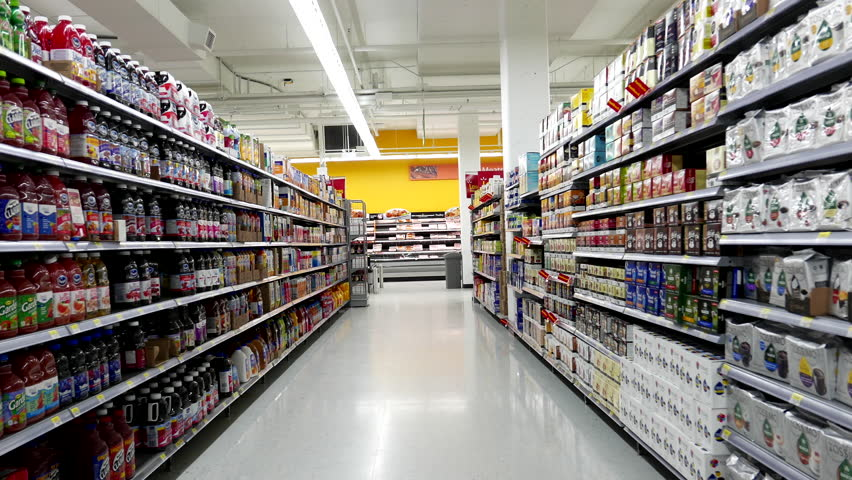 New Westminster, BC, Canada - February 16, 2016 : Beverages corridor in Walmart store with 4k resolution | Shutterstock HD Video #14967214