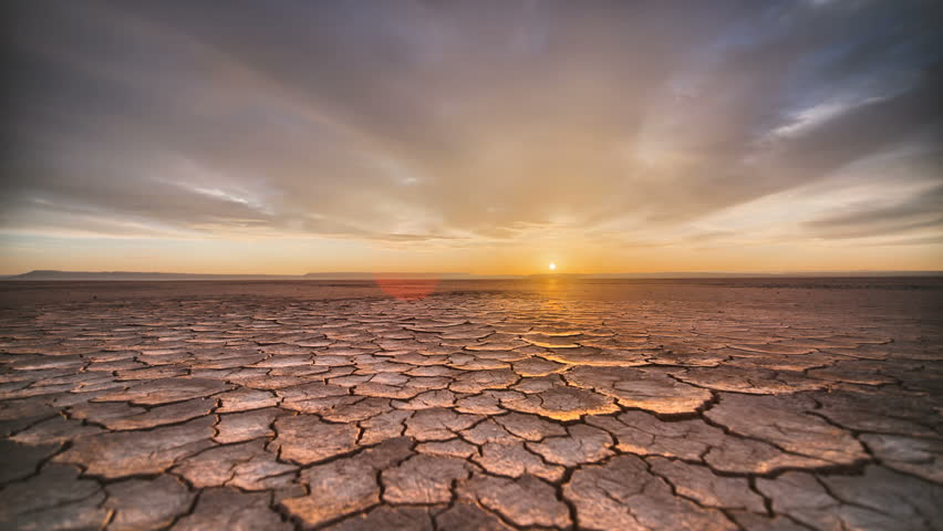 Tracking Time Lapse Desert Playa Dawn in vivid HDR Sunrise | Shutterstock HD Video #14972824