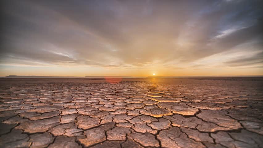Tracking Time Lapse Desert Playa Dawn in vivid...