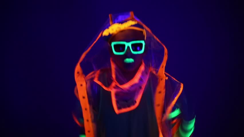 The man in the neon costume | Shutterstock HD Video #15015304