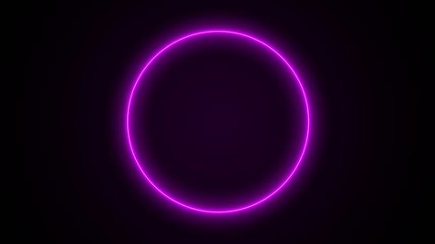 abstract neon circle loop purple motion background