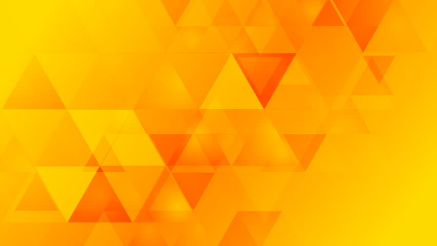 Bright Orange Geometric Tech Background With Triangles Video