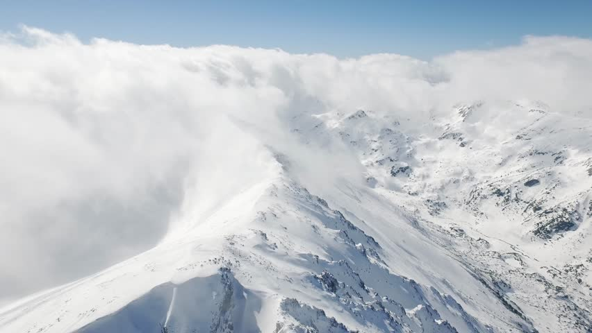 Beautiful Epic Scale Mountain Range Swiss Alps Aerial Drone Footage Clouds Peaks Travel Extreme Heights Distances Inspiration Concept UHD 4K | Shutterstock HD Video #15070390