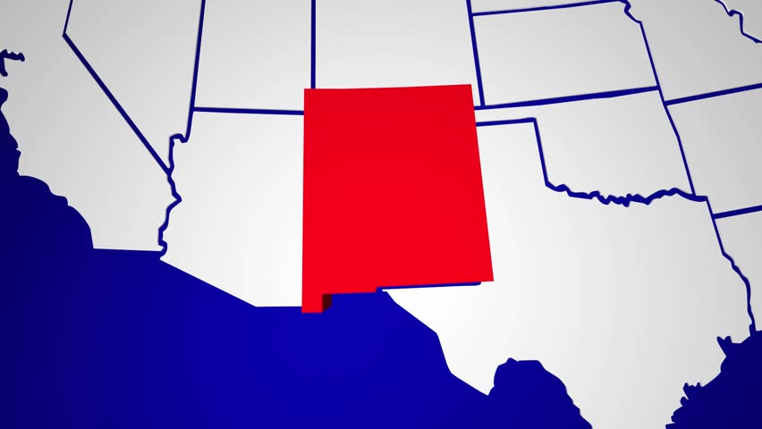 New Mexico Map Stock Footage Video Shutterstock - New mexico on us map